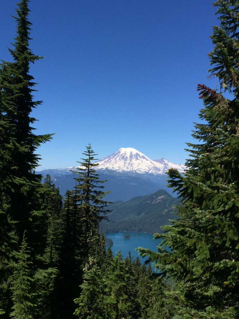 Mt. Rainier above Packwood Lake.